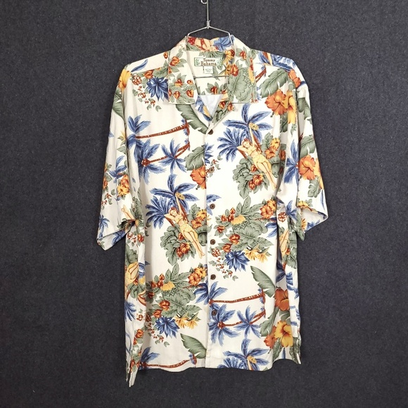 Tommy Bahama Other - Tommy Bahama Silk Button Down Hawaii Girl Shirt